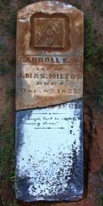 Carroll E. W. Milton Headstone