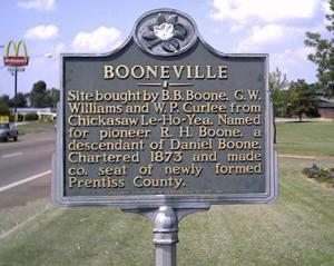 Booneville, Mississippi, Founders Sign
