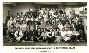 Blue Bell Employees - 20 Years Experience -1977
