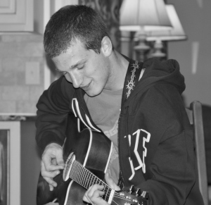 Gabe with guitar